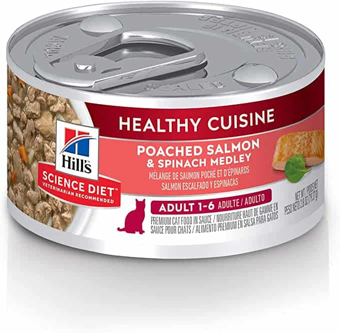 Hill's Science Diet Adult Healthy Cuisine Salmon & Spinach Medley